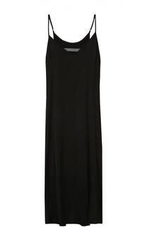 Платье-комбинация с необработанным подолом и V-образным вырезом Raquel Allegra