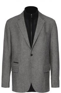 Однобортный пиджак из смеси шерсти и кашемира с подстежкой Ermenegildo Zegna