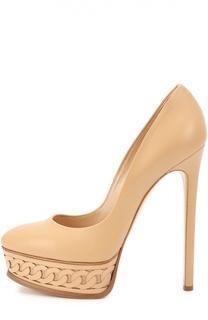 Туфли на платформе и шпильке Casadei