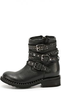 Кожаные ботинки с заклепками Ash