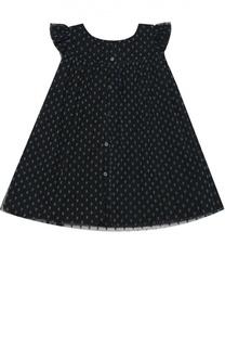 Платье из хлопка на пуговицах Burberry