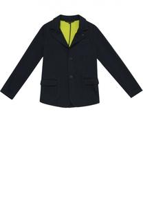 Хлопковый однобортный пиджак Giorgio Armani