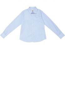 Хлопковая рубашка с воротником акула Giorgio Armani