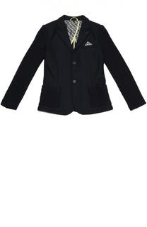 Шерстяной однобортный пиджак Giorgio Armani