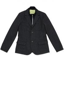 Хлопковый однобортный пиджак с подстежкой Giorgio Armani