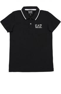 Хлопковое поло с короткими рукавами Ea 7