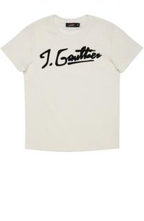 Хлопковая футболка с аппликацией Jean Paul Gaultier