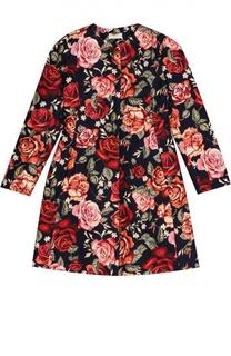 Пальто с цветочным принтом Monnalisa