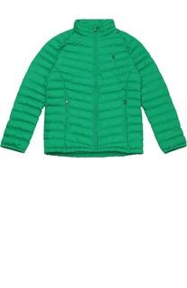 Утепленная стеганая куртка на молнии Polo Ralph Lauren