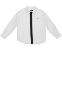 Хлопковая рубашка с контрастной молнией Jean Paul Gaultier