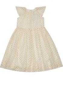 Платье с декором из металлизированного волокна Burberry