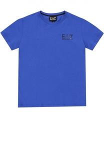 Хлопковая футболка с круглым вырезом Ea 7
