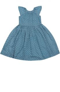 Платье из шелка с металлизированным волокном Burberry