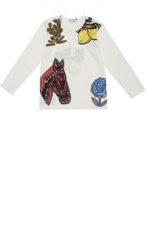 Хлопковый лонгслив с принтом Dolce & Gabbana