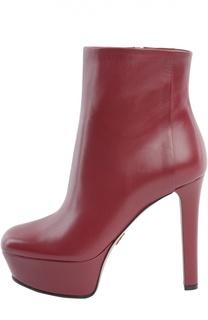 Кожаные ботильоны Leila на устойчивом каблуке Gucci