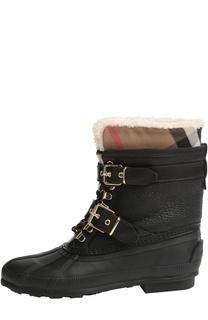 Комбинированные ботинки с ремешками Burberry Brit