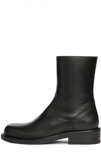 Кожаные ботинки на устойчивом каблуке Ann Demeulemeester