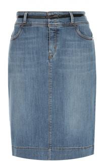 Джинсовая юбка-карандаш с карманами BOSS