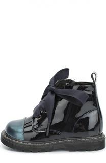 Лаковые ботинки с контрастным мысом Clarys