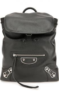 Кожаный рюкзак Metallic Edge Traveller Balenciaga