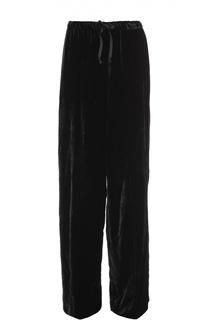 Бархатные широкие брюки с эластичным поясом Dries Van Noten