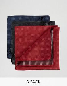 Набор из 3 однотонных платков Feraud - Мульти