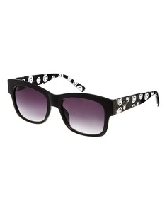 Солнцезащитные очки с принтом на дужках Quay - Черный