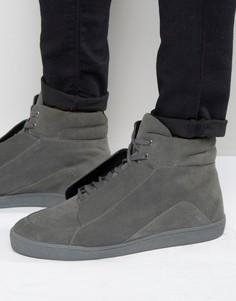 Серые замшевые высокие кроссовки KG By Kurt Geiger - Серый