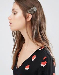 Заколка для волос с листиком DesignB London - Золотой