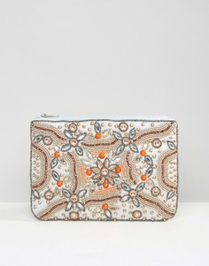 True Decadence Embellished Zip Top Pouch - Мульти