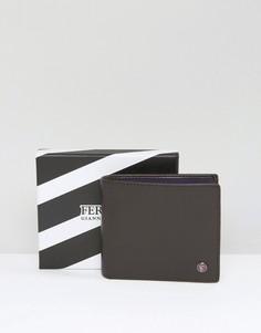 Кожаный бумажник с контрастной внутренней отделкой Feraud - Коричневый