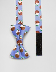 SSDD Mini Christmas Pudding Bow Tie - Синий