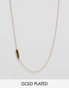 Ожерелье со знаком зодиака Рак Gorjana - Золотой