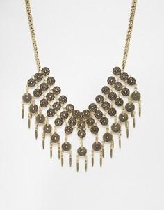 Броское ожерелье с монетками DesignB London - Золотой