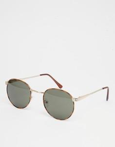Круглые солнцезащитные очки AJ Morgan Belmont - Черный