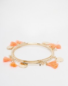Набор браслетов с кисточками Design B - Золотой