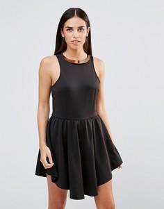 Платье с асимметричной горловиной Girl In Mind Caitlyn - Черный