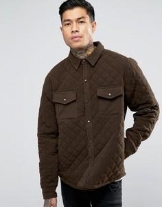 Стеганая куртка‑рубашка Another Influence - Зеленый
