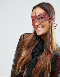 Кружевная маска ASOS Christmas - Красный