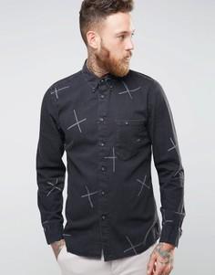 Nudie Stanley Chalk Print Shirt - Черный