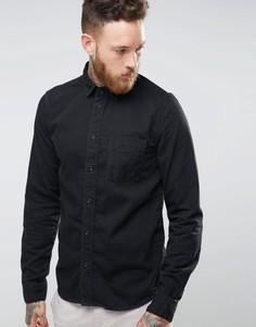 Nudie Criss Denim Shirt - Черный