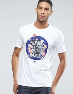 Белая футболка с принтом Nike Jordan X Space Jam 824358-100 - Белый