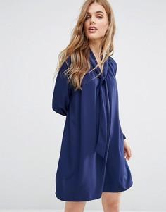 Платье с завязкой на горловине Traffic People - Темно-синий