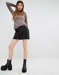 Юбка со шнуровкой Tripp NYC - Черный