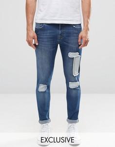 Джинсы с заплатками на коленях Brooklyn Supply Co Dumbo - Синий