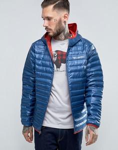 Легкая стеганая пуховая куртка с капюшоном Columbia Flash Forward - Темно-синий