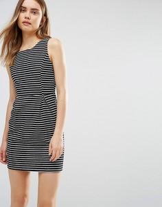 Платье в полоску Wal G - Черный