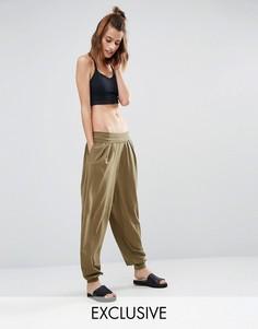Гаремные брюки цвета хаки South Beach - Зеленый