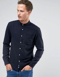 Рубашка в клеточку с воротником с застежкой на пуговицах Celio - Черный