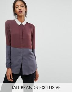 Рубашка колор блок Y.A.S Tall - Мульти